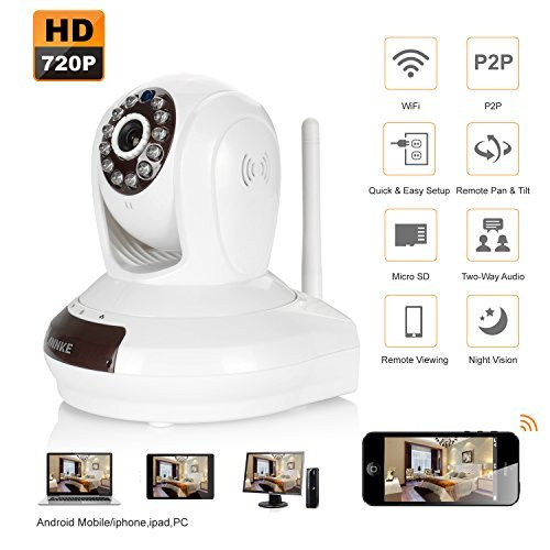 Annke 720P Wireless WIFI Baby Monitor H.264 IP Camera with Two-ways Audio Talk, Easy Remote Access via PC & Smartphone