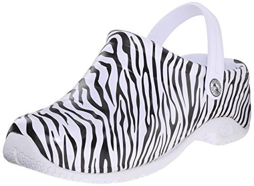 Anywear Womens Zone Work Shoe Zebra Print