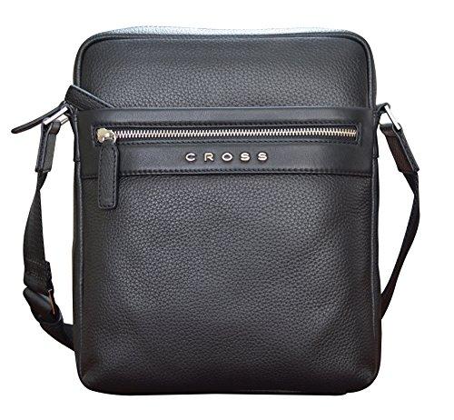 Cross Men's Genuine Leather Cross-Body / Sling Bag For Ipad – Black