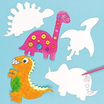Dinosaurier Aus Pappe Zum Basteln Und Bemalen Für Kinder Für