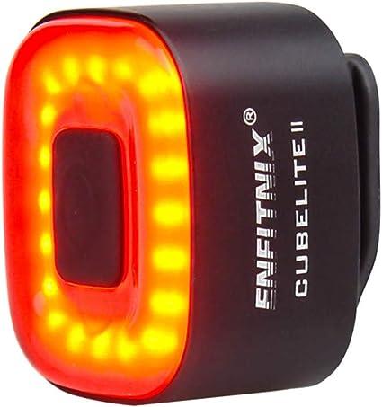 Haorw Fahrrad Rücklicht Usb Intelligenter Sensor Fahrradlicht Fahrradrücklicht Für Mtb Schwarz Sport Freizeit