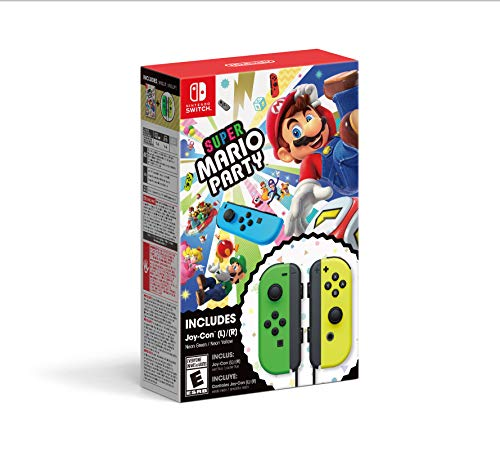 Super Mario Party + Neon Green/ Neon Yellow Joy-Con Set - Nintendo Switch