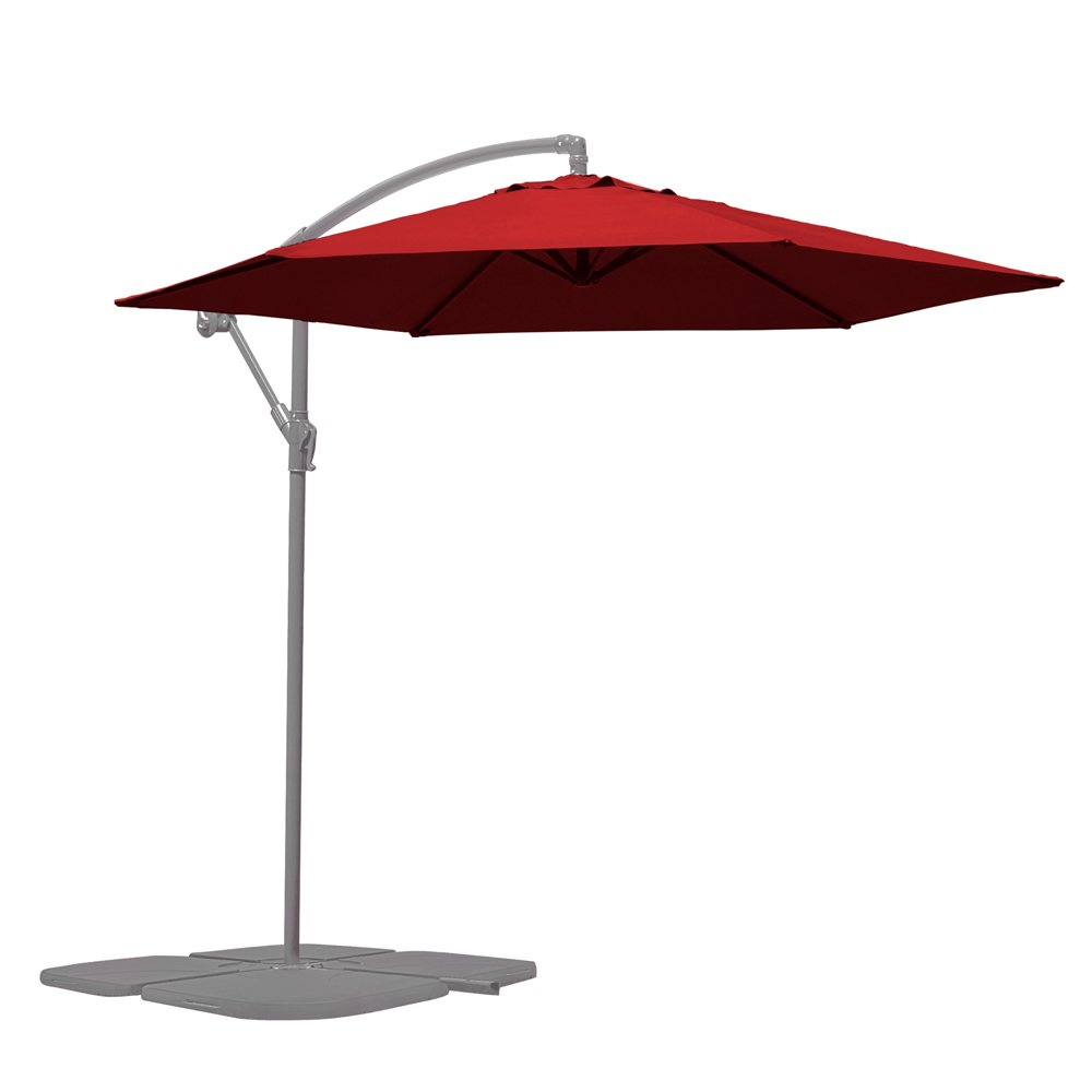 Banana Hanging Cantilever Parasol, Outdoor Umbrella Canopy for Shade (Green) Clifford James
