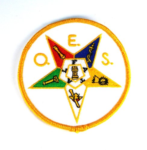 Order Of The Eastern Star Masonic Shriners Embroidered Patch Iron Sew PWPM5041