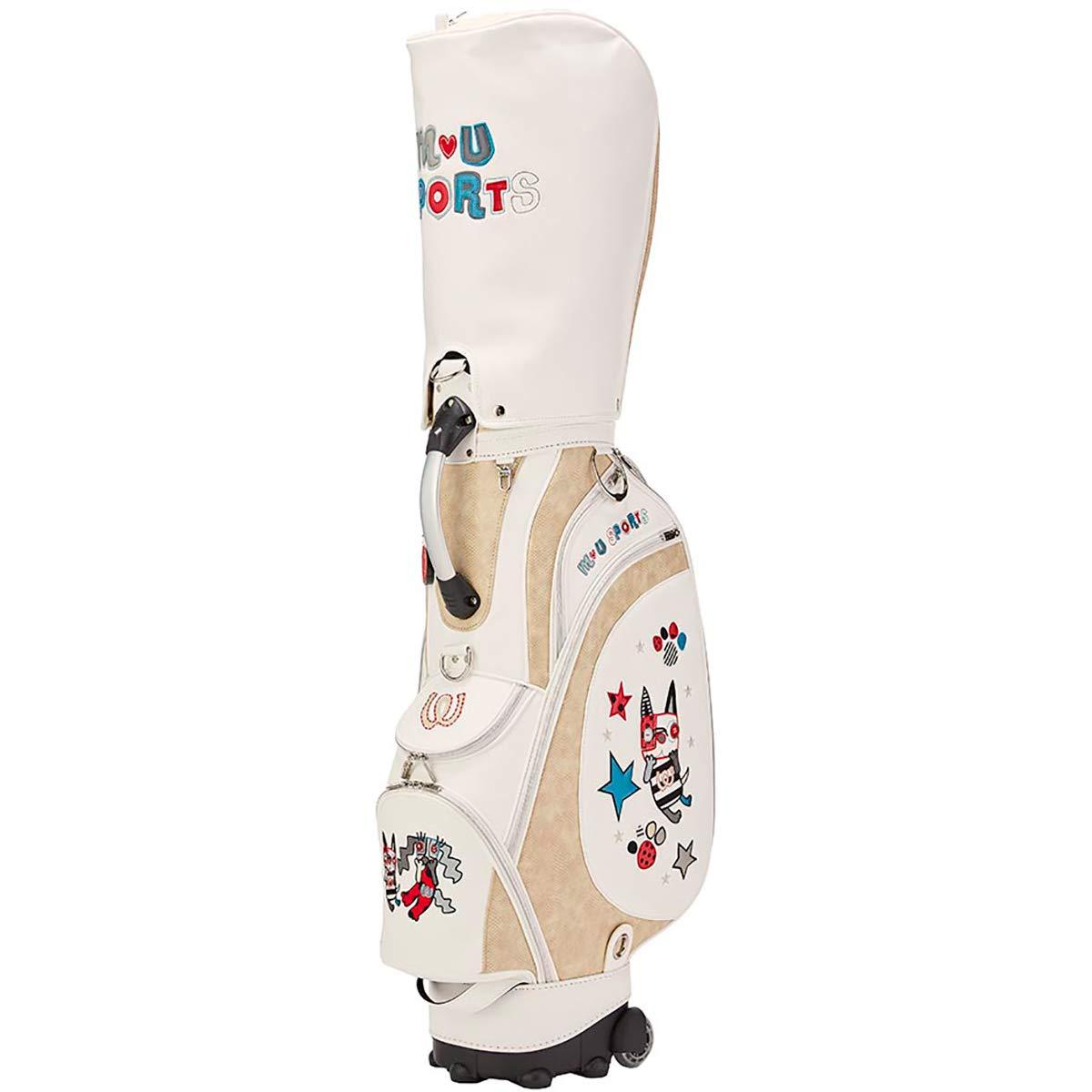 MU SPORTS(エム ユースポーツ) キャディーバッグ 2019SSシリーズ スペインアート風キャディバッグ アイボリー 703P1102 アイボリー   B07NP58P7H