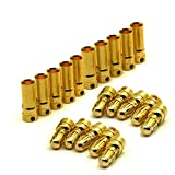 10 Pairs Gold Plate 3.5mm Female & Male Bullet Connector Banana Plug for ESC Plug RC Batteries