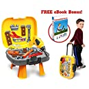 4 in 1 Tool Set, 40-Piece Set Of Construction Toys And Accessories For Kids & Toddlers Ages 3+, Provides Realistic STEM Innovation and Learning For Boys & Girls! BONUS Ebook: Talented Kids Secrets!