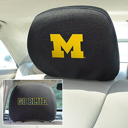 FANMATS NCAA University of Michigan Wolverines Polyester Head Rest Cover