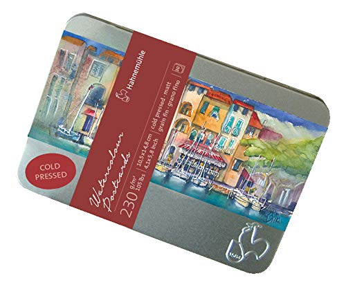 (Hahnemuhle Watercolor Cards 230gsm Cold Pressed 4x5.75 Inches, 1 Set of 30 Cards )