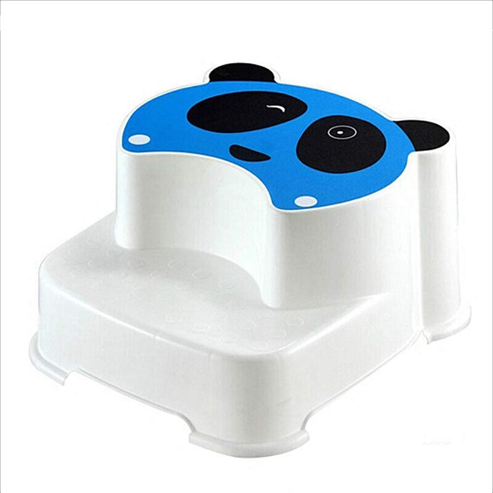 FEI Baby Step Stool Pedal Type Child Bath Seat 36x32.4cm (Color : Blue)