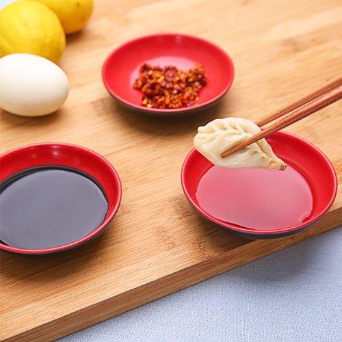 CWAIXX Plat de vaisselle de coupelles de sauce de soja vinaigre assaisonné plat plat plat plat snack plaque