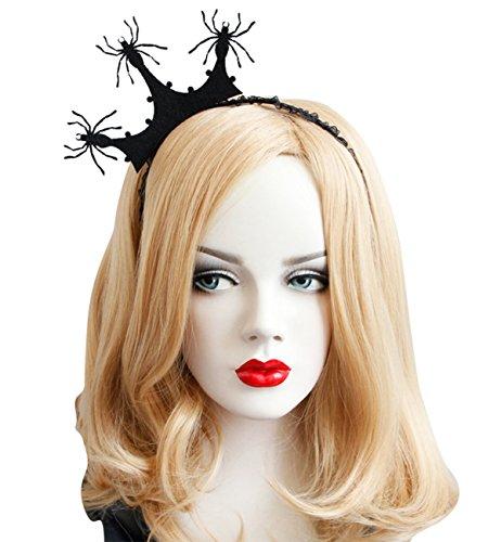 Hilltop To Cloud Black Crown Spider Fascinator Hair Hoop ...