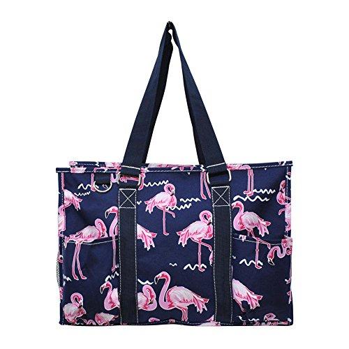 N Gil All Purpose Organizer Medium Utility Tote Bag 4 - 2017 Fall New Pattern (Navy Flamingo)]()