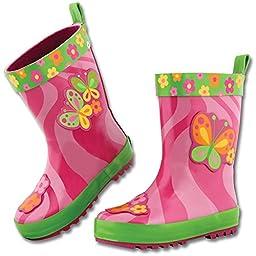 Stephen Joseph girls Rain Boots, Butterfly