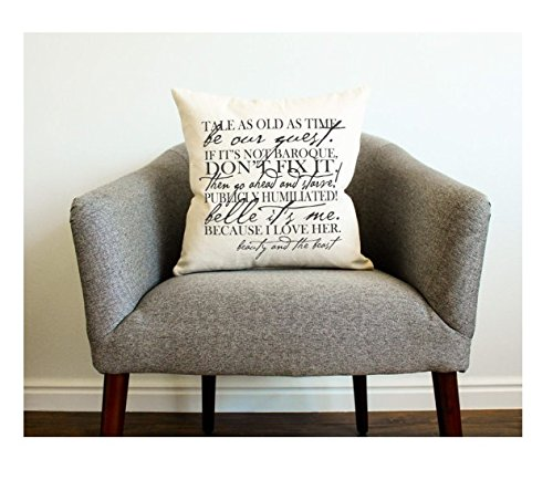Favorite Lines Pillow Cover - Gift for Her, Gift for Him, Be Our Guest, Cartoon Pillowcase, Wedding Gift, Quote Gift - Coming To America Movie Costumes