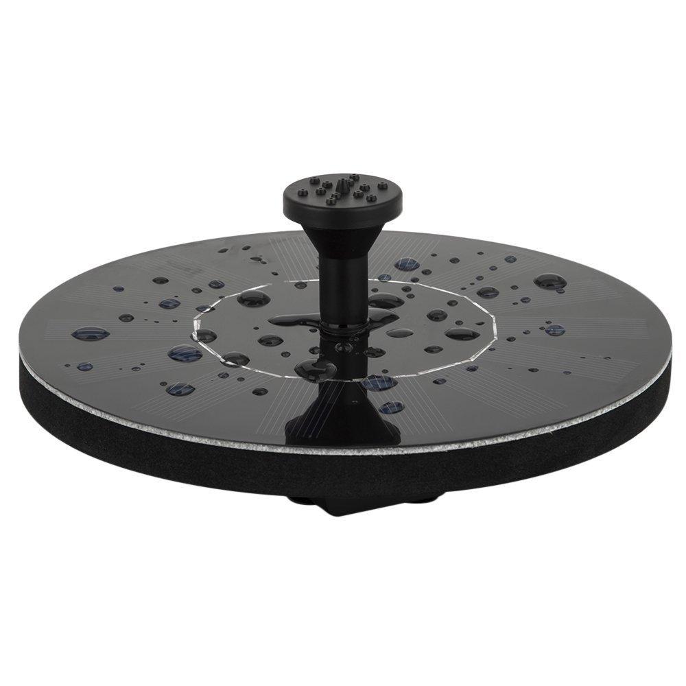 LUXJET 1.4W Floating Solar Fountain Pump Mini Garden Water Pump for Courtyard Bird bath, Maximum Flow 150L/H