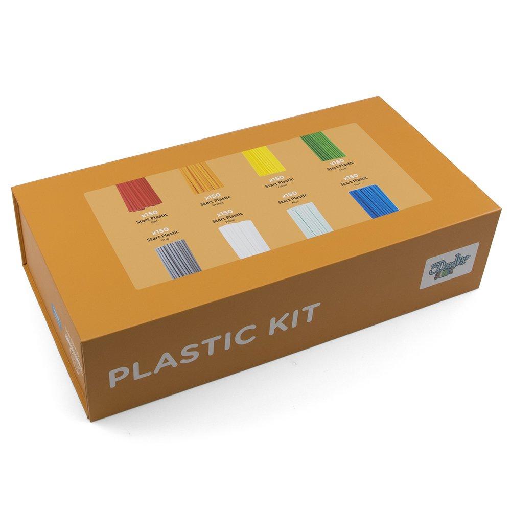 3Doodler 8Splfilled Edu Start Learning Pack Plastic Kit, 1200 Strands