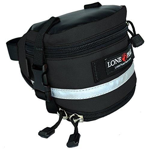 Lone Peak Deluxe Expandable Bicycle Seat Bag Black