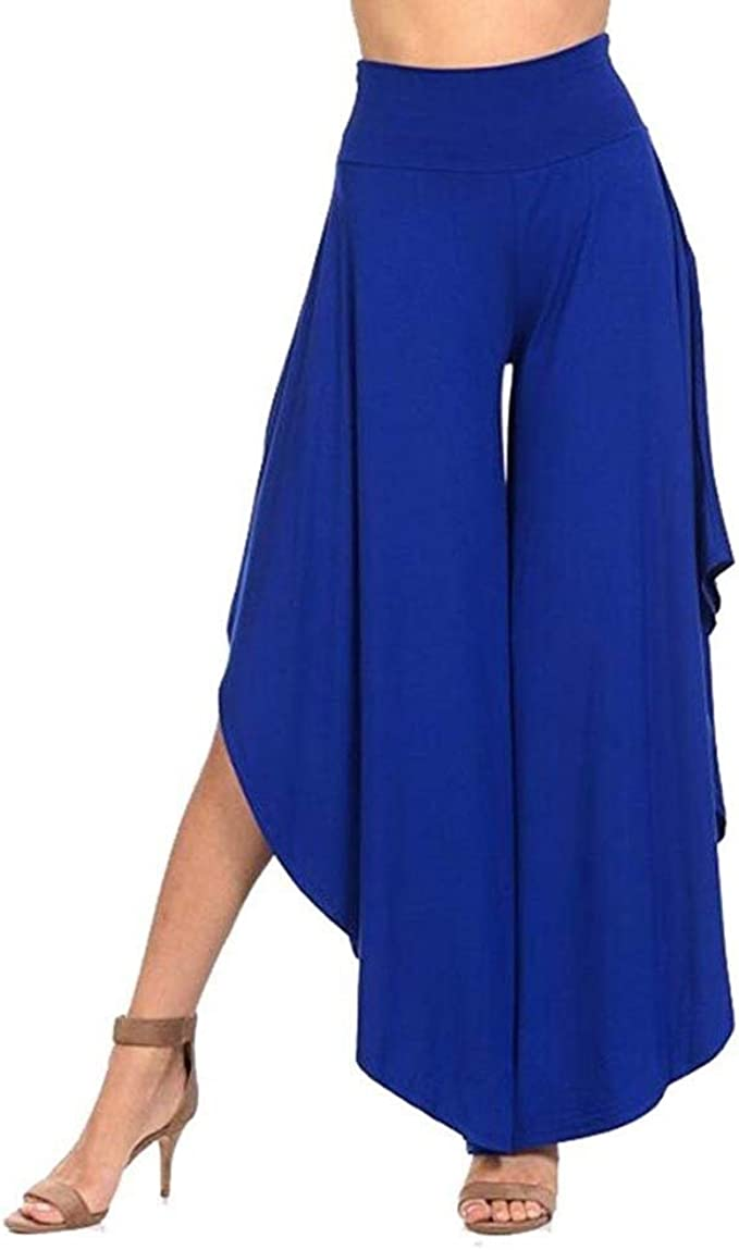 Pantalones Verano Mujer Elegante Pantalones De Pantalones Palazzo ...