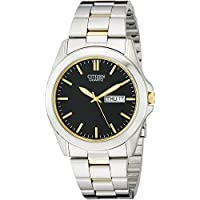 Citizen Men's Quartz Two-Tone Bracelet Watch w/Black Dial