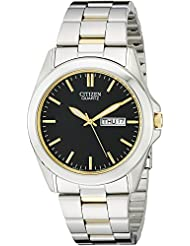 Citizen Mens Quartz Stainless Steel Watch with Day/Date, BF0584-56E
