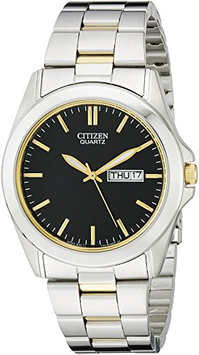 Citizen Men's Quartz Stainless Steel Watch with Day/Date, BF0584-56E (Watch 56e)