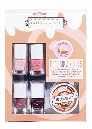 Essential Cute Cherry Chree Nail Polish Gift Set (Iced Cinnamon Rolls)