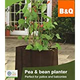 B&Q?? Grow Your Own Pea & Bean Vegetables Crops Flower Plant Herbs Square Planter Bag - Perfect for Patios and Balconies by BQ