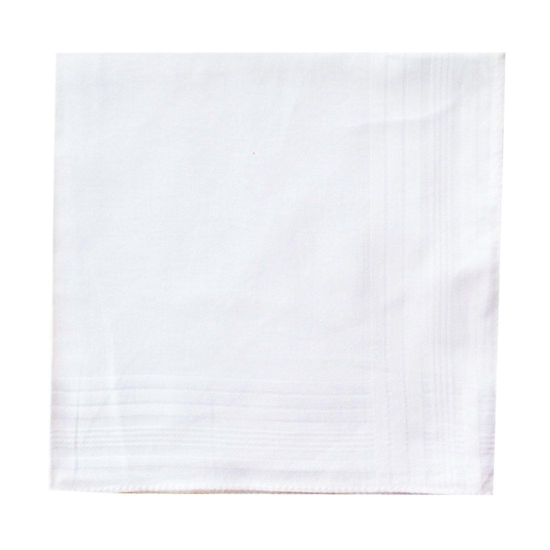 LACS Men's Solid White Cotton Handkerchiefs Pack by LACS Handkerchiefs (Image #2)