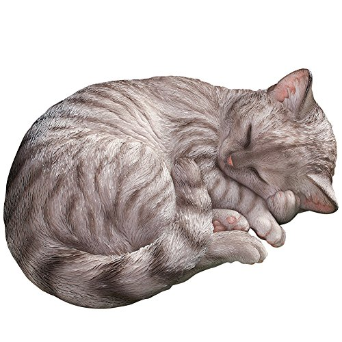 Hand painted Sleeping Kitty Garden Statue