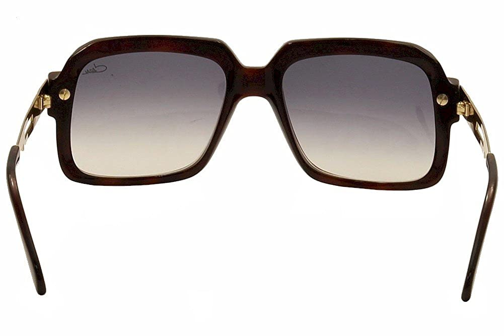 5c710a77bef8 Amazon.com  Cazal 607 2 Sunglasses 080SG Amber Brown Matte Shiny Gold Brown  Gradient  Clothing