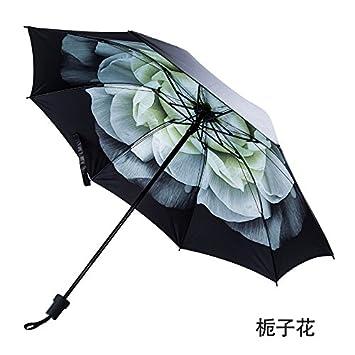 CWAIXX Luz el solar ultra paraguas pequeño UV para prevenir el paraguas de mujer vinilo limpio