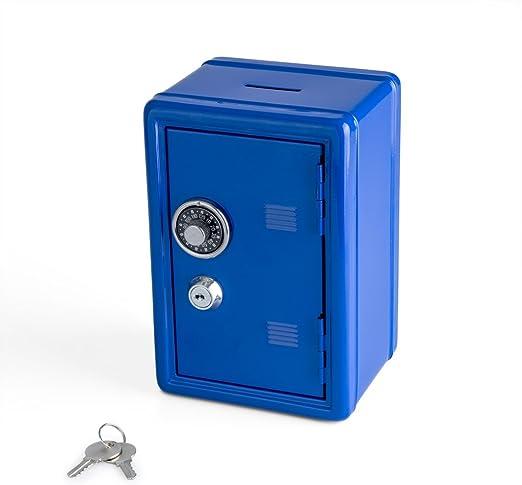 Balvi Hucha Money Bank Color Azul Caja de Seguridad con Doble ...