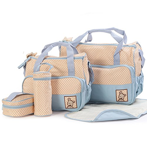 ansan-5-in-1-5-pcs-baby-changing-diaper-nappy-bag-tote-mummy-mother-multifunctional-handbag-mummy-pa