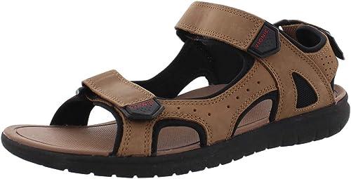 Brown Vionic Orthotic Mens Gerrit Adjustable Sandal