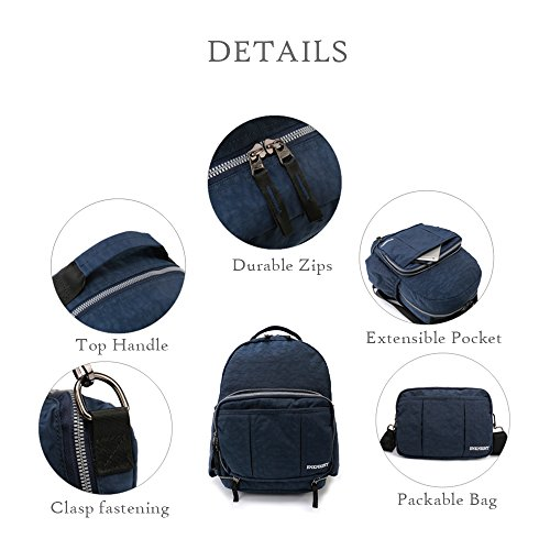 Travel Backpack Bag for Navy Bag Day Rucksack Cross Small Women`s Shoulder ENKNIGHT Tote Handy body Bag Packable ZqndZHx