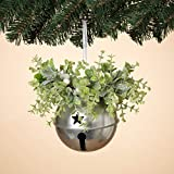 GIL 8'' H Holiday Mistletoe & Metal Christmas, 5InL x 5InW x 8InH, Green
