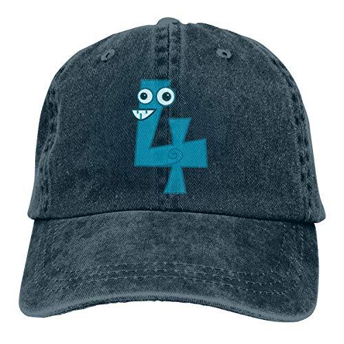 ASDGEGASFAS Baseball Cap Number Animal Four Cotton Adjustable Peaked Dyed Cap Washed Cowboy Hat