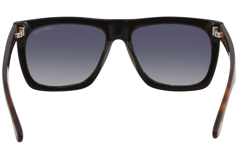 caf207016ac Amazon.com  Tom Ford FT0513 05B Shiny Black Havana Morgan Square Sunglasses  Lens Category 2  Tom Ford  Clothing