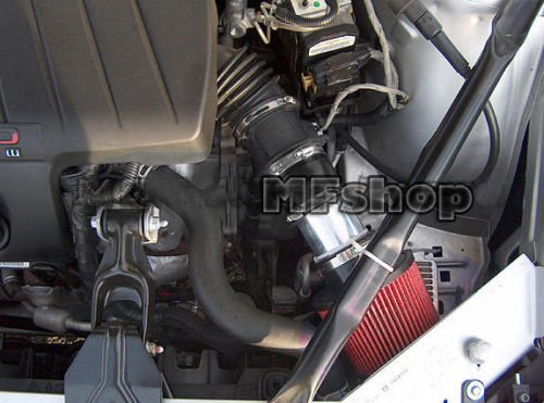 2004 2005 2006 2007 2008 Pontiac Grand Prix with 3.8L V6 Engine Air Intake Filter Kit System (Black Accessories with Red Filter)