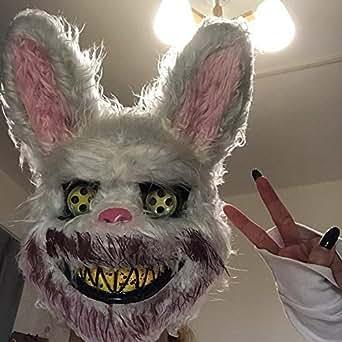 Amazon.com: Máscara de conejo sangriento de Halloween ...