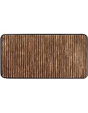 "Kitchen Rug Mats Abstract Wooden Planks Texture Bath Rug Runner Doormats Carpet for Home Decor, 39"" X 20"""