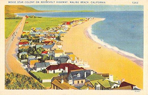 Postcard View Birdseye (Malibu Beach California Movie Star Colony Birdseye View Antique Postcard K92336)