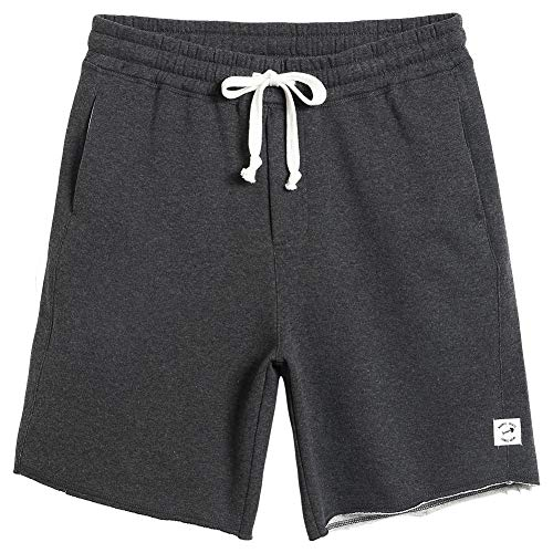 (MaaMgic Men's Fleece Pajama Flat Front Shorts 9