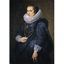 Polyster Canvas ,the High Definition Art Decorative Prints On Canvas Of Oil Painting 'Dyck Anton Van Dama Desconocida Ca. 1628 ', 8 X 11 Inch / 20 X 29 Cm Is Best For Basement Gallery Art And Home Decor And Gifts