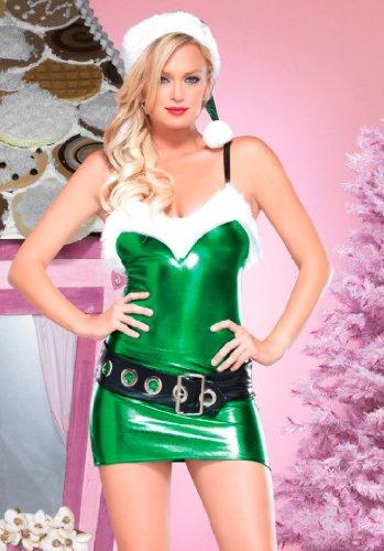 Hot Rod Movie Halloween Costume (Leg Avenue Women's Hot Rod Elf Set, Green,)