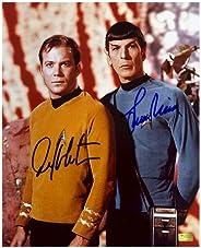 William Shatner and Leonard Nimoy Autographed 8x10 Star Trek Landing Party Photo