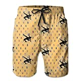 Oct USA Wrestling Logo Long Mens Boardshorts Swim Trunks Tropical Gym Board Shorts Surf Trunks