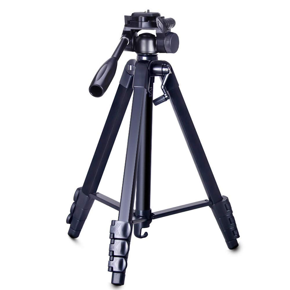 XHHWZB Camera Light Tripod, Compact Travel Tripod 70.86''/1.8cm with 3-Way Head, 3KG Load Capacity for DSLR (Size : 1.6 Meters high)