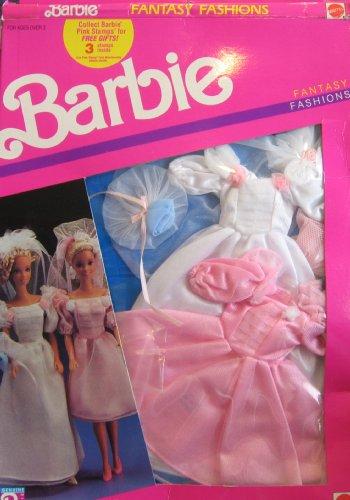 Barbie Fantasy Fashions - 2 WEDDING BRIDAL Fashion Outfits (1989) by Barbie